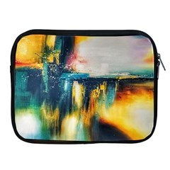 Art Painting Abstract Yangon Apple Ipad 2/3/4 Zipper Cases