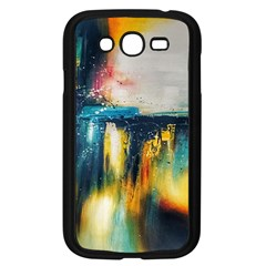 Art Painting Abstract Yangon Samsung Galaxy Grand Duos I9082 Case (black)