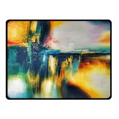 Art Painting Abstract Yangon Double Sided Fleece Blanket (small)