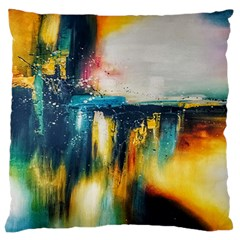 Art Painting Abstract Yangon Large Flano Cushion Case (two Sides)