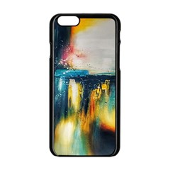 Art Painting Abstract Yangon Apple Iphone 6/6s Black Enamel Case
