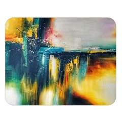 Art Painting Abstract Yangon Double Sided Flano Blanket (large)