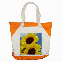 Sunflower Floral Yellow Blue Sky Flowers Photography Accent Tote Bag