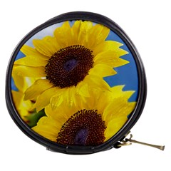 Sunflower Floral Yellow Blue Sky Flowers Photography Mini Makeup Bags