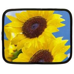 Sunflower Floral Yellow Blue Sky Flowers Photography Netbook Case (xxl)