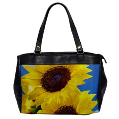 Sunflower Floral Yellow Blue Sky Flowers Photography Office Handbags