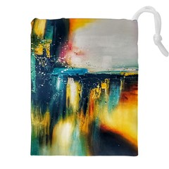 Art Painting Abstract Yangon Drawstring Pouches (xxl)