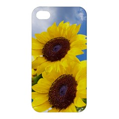 Sunflower Floral Yellow Blue Sky Flowers Photography Apple Iphone 4/4s Hardshell Case