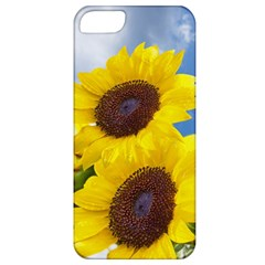 Sunflower Floral Yellow Blue Sky Flowers Photography Apple Iphone 5 Classic Hardshell Case