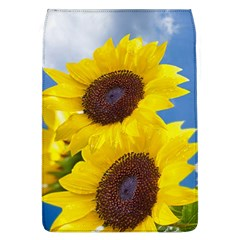 Sunflower Floral Yellow Blue Sky Flowers Photography Flap Covers (l)