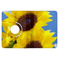 Sunflower Floral Yellow Blue Sky Flowers Photography Kindle Fire Hdx Flip 360 Case by yoursparklingshop