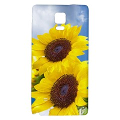 Sunflower Floral Yellow Blue Sky Flowers Photography Galaxy Note 4 Back Case