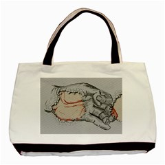 Hand Finger Drawing Fingernails Basic Tote Bag (two Sides)