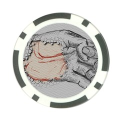 Hand Finger Drawing Fingernails Poker Chip Card Guard