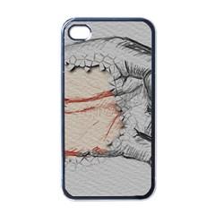 Hand Finger Drawing Fingernails Apple Iphone 4 Case (black)