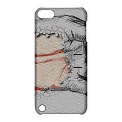 Hand Finger Drawing Fingernails Apple Ipod Touch 5 Hardshell Case With Stand by Simbadda