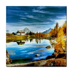Dolomites Mountains Italy Alpin Tile Coasters
