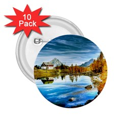 Dolomites Mountains Italy Alpin 2 25  Buttons (10 Pack)