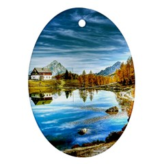 Dolomites Mountains Italy Alpin Oval Ornament (two Sides)