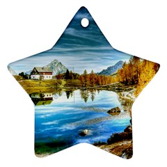 Dolomites Mountains Italy Alpin Star Ornament (two Sides)
