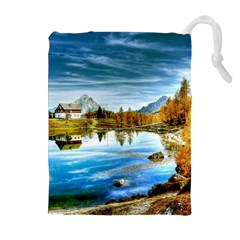 Dolomites Mountains Italy Alpin Drawstring Pouches (extra Large)