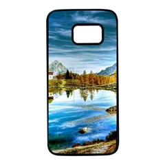 Dolomites Mountains Italy Alpin Samsung Galaxy S7 Black Seamless Case by Simbadda
