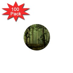Forest Tree Landscape 1  Mini Magnets (100 Pack)