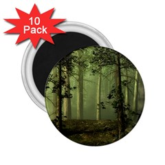 Forest Tree Landscape 2 25  Magnets (10 Pack)