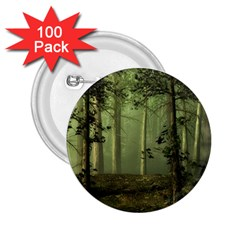 Forest Tree Landscape 2 25  Buttons (100 Pack)