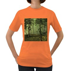 Forest Tree Landscape Women s Dark T Shirt