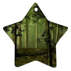 Forest Tree Landscape Star Ornament (two Sides)