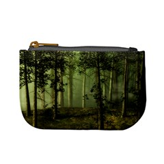 Forest Tree Landscape Mini Coin Purses