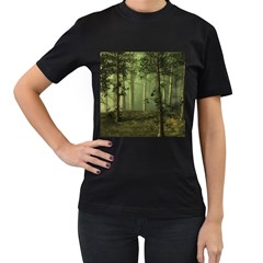 Forest Tree Landscape Women s T Shirt (black)