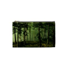 Forest Tree Landscape Cosmetic Bag (small)