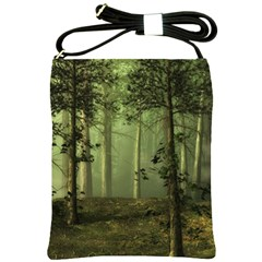 Forest Tree Landscape Shoulder Sling Bags