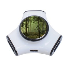 Forest Tree Landscape 3 Port Usb Hub