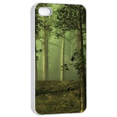 Forest Tree Landscape Apple Iphone 4/4s Seamless Case (white)