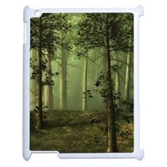 Forest Tree Landscape Apple Ipad 2 Case (white)