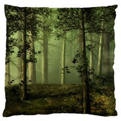Forest Tree Landscape Large Cushion Case (one Side)