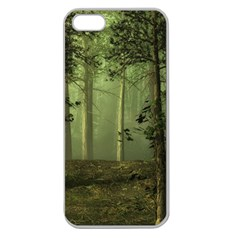 Forest Tree Landscape Apple Seamless Iphone 5 Case (clear)