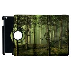 Forest Tree Landscape Apple Ipad 3/4 Flip 360 Case