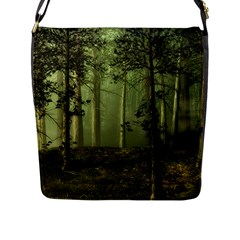 Forest Tree Landscape Flap Messenger Bag (l)