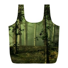 Forest Tree Landscape Full Print Recycle Bags (l)