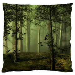 Forest Tree Landscape Standard Flano Cushion Case (one Side)