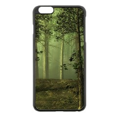 Forest Tree Landscape Apple Iphone 6 Plus/6s Plus Black Enamel Case