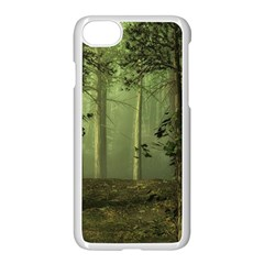 Forest Tree Landscape Apple Iphone 8 Seamless Case (white)