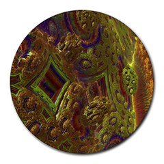 Fractal Virtual Abstract Round Mousepads