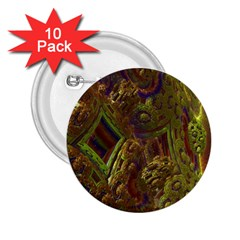Fractal Virtual Abstract 2 25  Buttons (10 Pack)