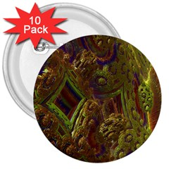 Fractal Virtual Abstract 3  Buttons (10 Pack)