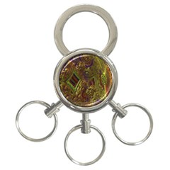 Fractal Virtual Abstract 3 Ring Key Chains